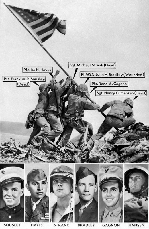 La photo d'Iwo Jima
