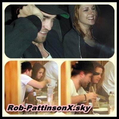 Robert&Kristen:)&&&Robert arrivant sur le tournage de Breaking Dawn