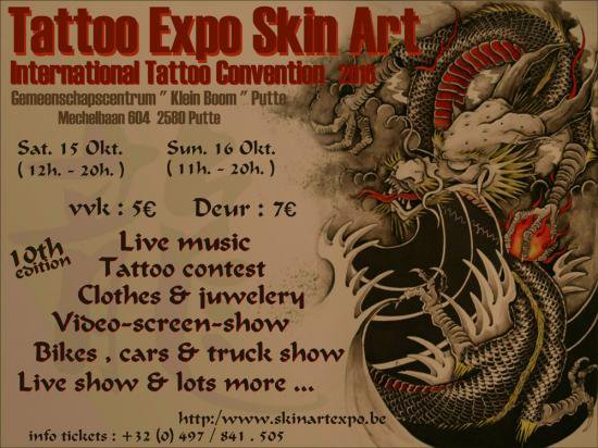 tattoo convention belgium 2016