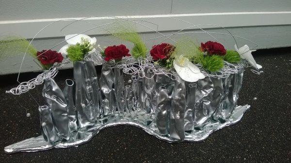 Centre de table pour Noël avec des éléments recyclés