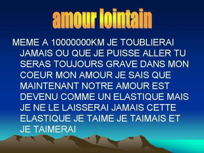 image amour lointain