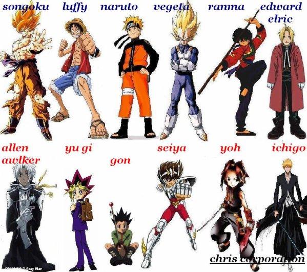 Bien-aimé LES DIFERENTS HEROS DE MANGA - le blog 100%manga WR53
