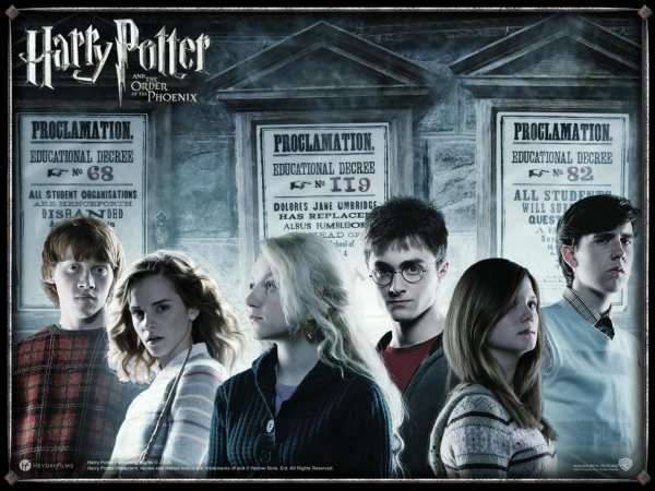 * Harry Potter et l'Ordre du Phénix (Harry Potter and the Order of the Phoenix )