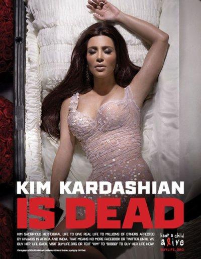 Kim & Khloé Kardashian were Dead… Campagne Digital Death!