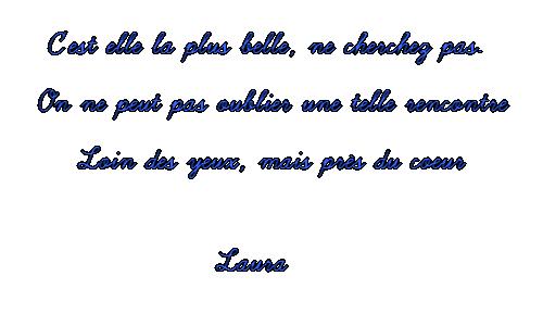 PETITE LAURA !