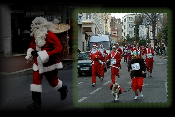 Petit Papa Noel est un marathonien,