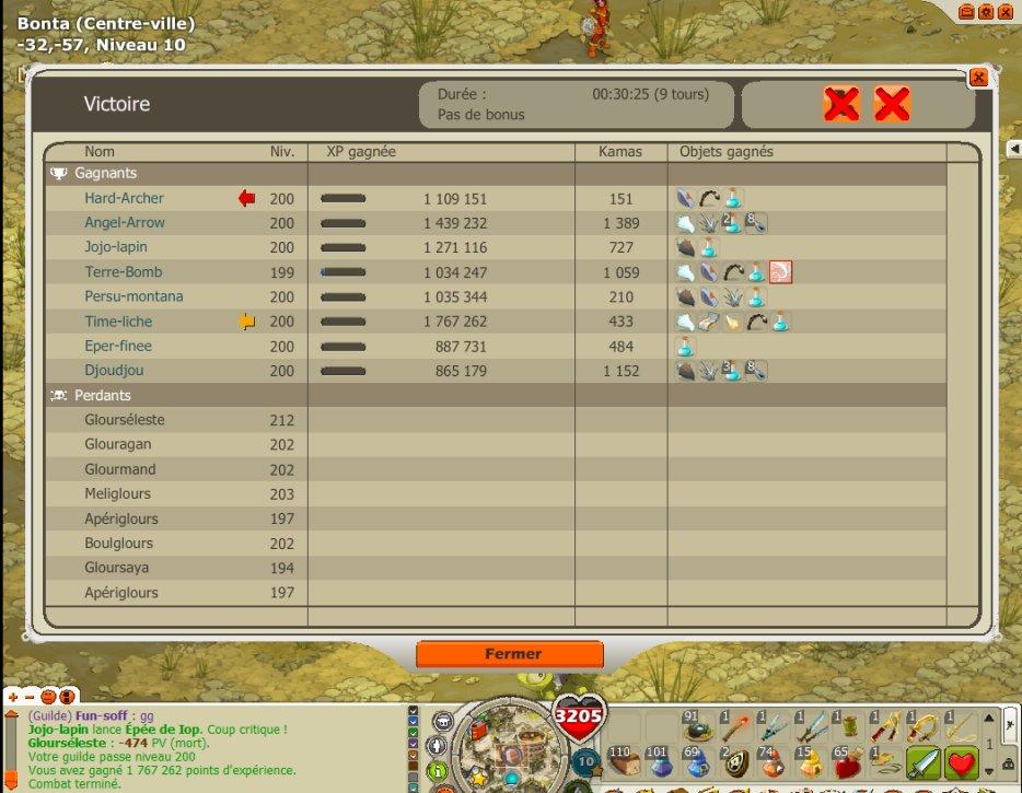 Le up 200 de notre guilde :D