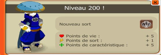 Up 200 de toutes les classes !