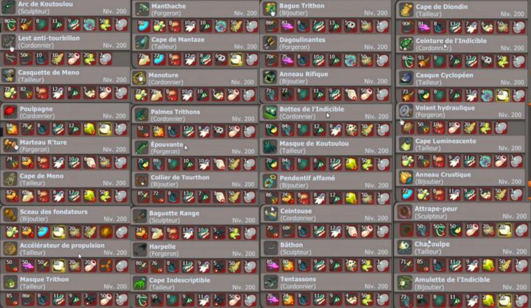 Presque tous les items/panoplies de la maj 2.35