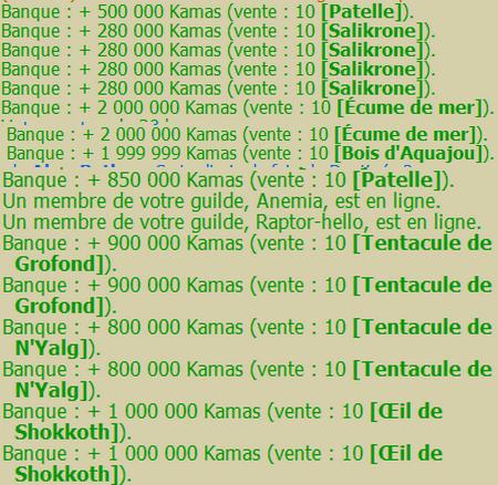 Merkator / Dantinéa / Capitaine Meno / Bénéfices