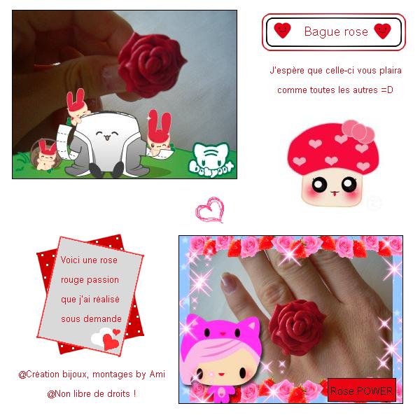 """~Quatrième collection~ """"Tendre Amours"""" -> Bague Rose passion"""