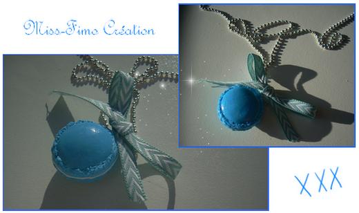 ~Première collection: 'A croquer'~: Macaron bleu