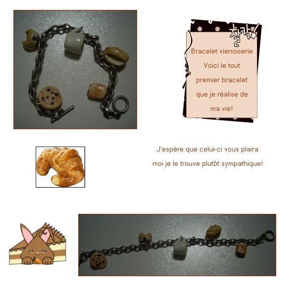 ~Première collection: 'A croquer'~: Bracelet vienoiserie