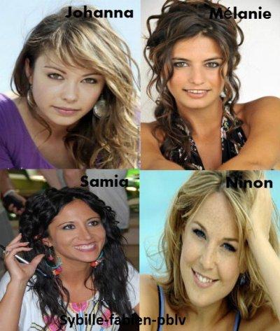 Johanna, Mélanie, Samia et Ninon !