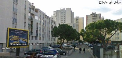 Cité des Moulins ( ZUS, ZRU, ZEP ) 2 èmes Cité la plus Sensibles du département 06 .
