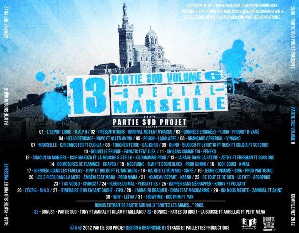 "Spano27 sur la mixtape ""Partie sud volume 6"" special Marseille"