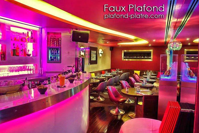 Faux plafond pour restaurant contemporain faux plafond - Faux plafond contemporain ...