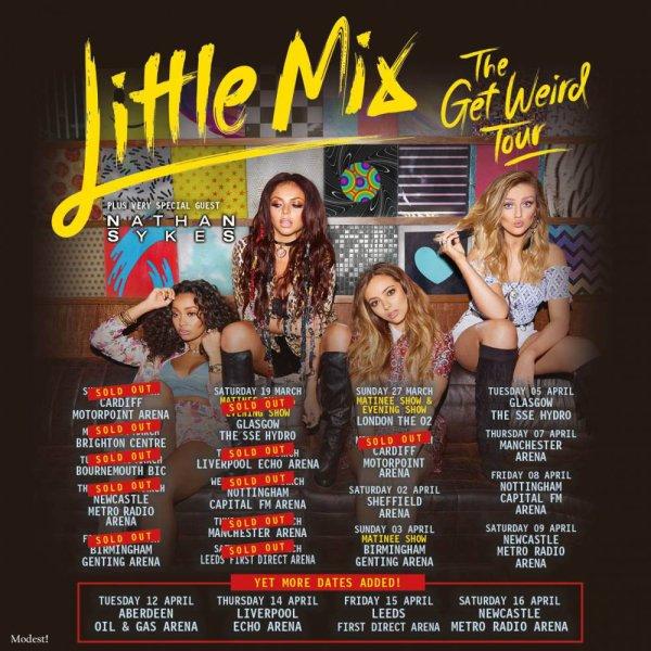 Tournée : Les dates de la prochaine tournée des filles, elle  seront très active!
