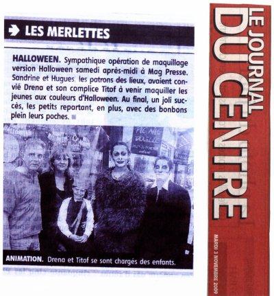 Stand de maquillage le 31 Octobre au Mag Presse