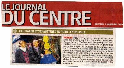 Animation maquillage pour enfants et adultes au MagPress à Cosne sur Loire pour Halloween, le 31 Octobre 2010