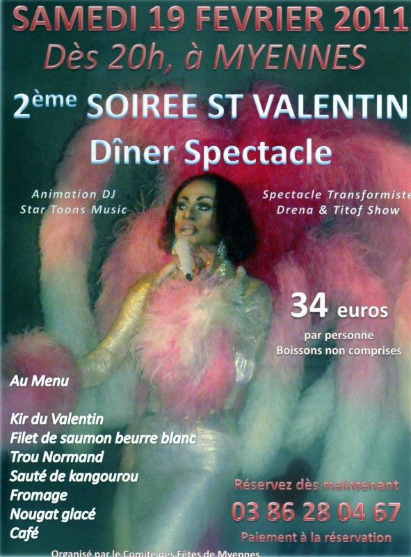 Soirée Saint Valentin, à Myennes, le 19 février 2011