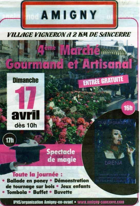 Marché Gourmand et Artisanal, le 17 Avril 2011, show transformiste dans l'après-midi