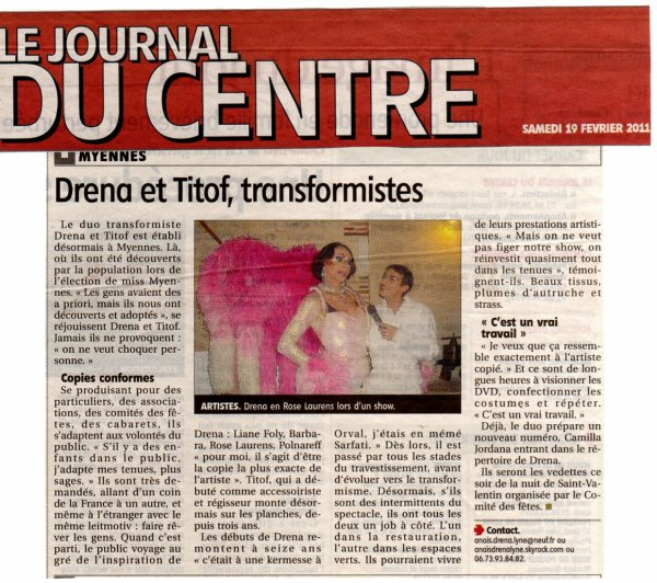 Interview du Journal du Centre