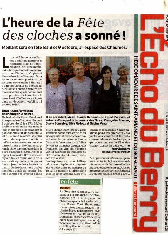 Soirée publique, le Samedi 08 Octobre 2011, fête des cloches...