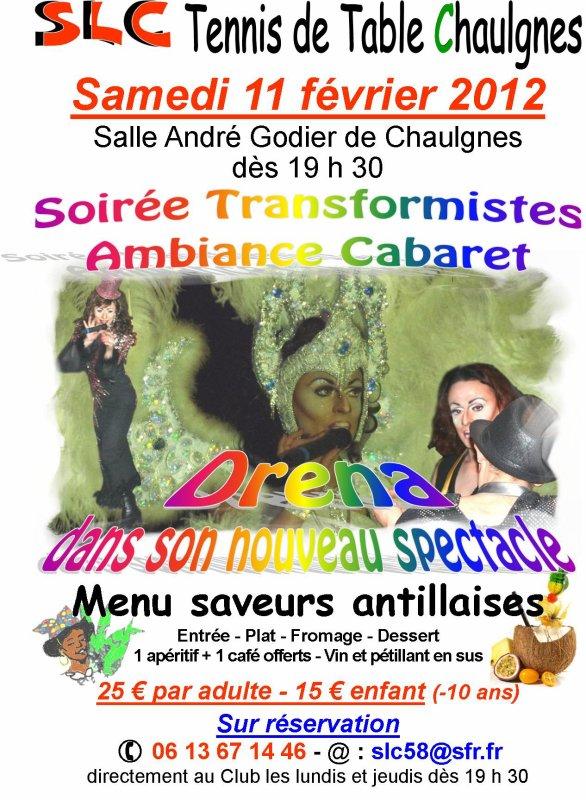 Soirée publique, le 11 Février 2012, à Chaulgnes