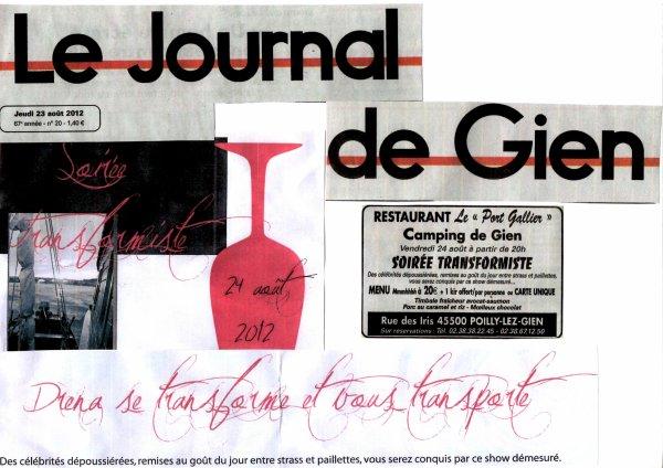 Soirée publique, le 24 Août 2012, Restaurant Le Port Gallier de GIEN