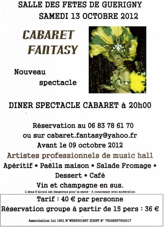 Soirée publique, le 13 Octobre 2012, Salle des fêtes de Guérigny (58130)