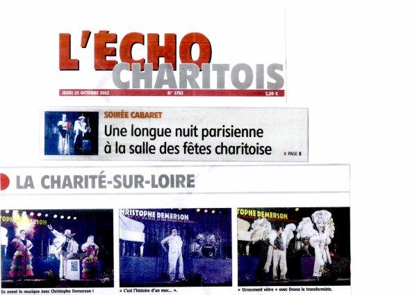Soirée publique, le 20 Octobre 2012, Salle des fêtes de La Charité (58400)