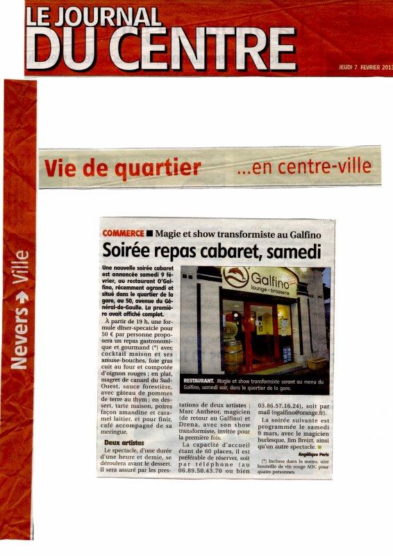 Soirée publique, le 09 Février 2013, à Nevers, O'GALPHINO