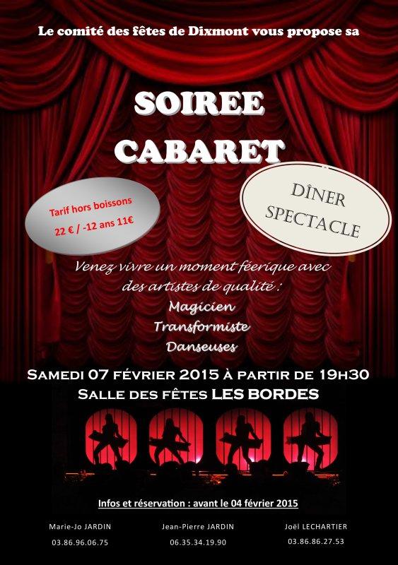 Soirée publique, le 07 Février 2015, à Les Bordes (89500)