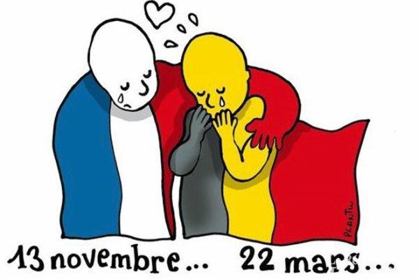 Attentats à Bruxelles: l'hommage des dessinateurs 2 ans apres