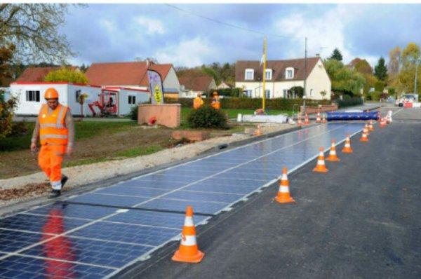 En Normandie, une route solaire au banc d'essai