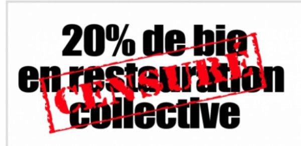 Loi Egalité et citoyenneté : Le 20 % de bio et local dans les cantines censuré par le Conseil Constitutionnel