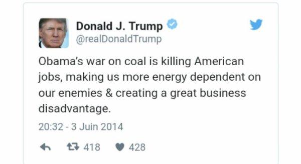 Pour relancer l'industrie du charbon, les Etats-Unis réautorisent la pollution des cours d'eau