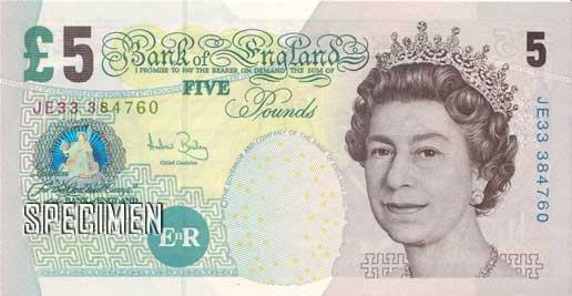 un billet britannique de 5 £ écoeure les amis des betes