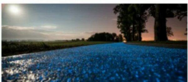 Une piste cyclable éclairée à l'énergie solaire