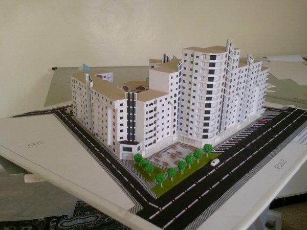 maquette de l'habitat collectif 2009