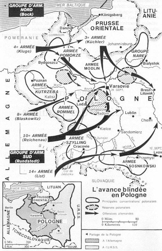 """La campagne de Pologne """" opération Fall Weiss """" 1er septembre 1939"""