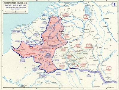 14- Le front dans sa totalité à la veille de la défaite.