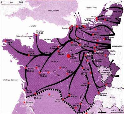 Chapitre 6 -  La bataille de France 1er partie de Sedan à Dunkerque .