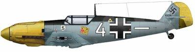 6- Le Messerschmitt Bf 109 .