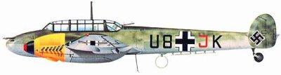 7- Le Messerschmitt Bf 110 .