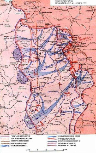 """29 / 3 - Opération """" Typhon """" la ruée sur Moscou 1er partie : 30 septembre - 10 octobre 1941."""