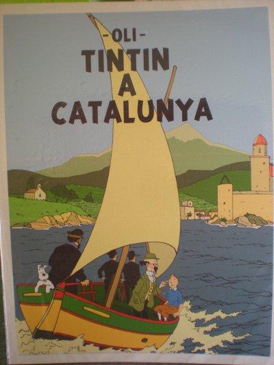 ** tintin en catalogne , plus précisement à Collioure..