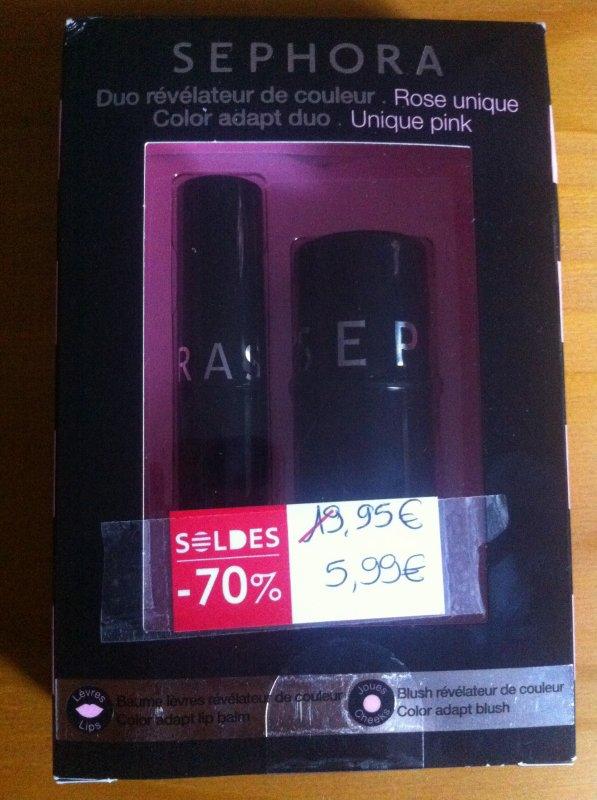 Blush et baume lèvre, duo révélateur de couleur ! 5,99¤ !