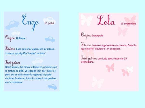 Les Prénoms De Nos Futurs Enfants Enzo Et Lola Blog De